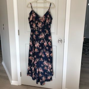 NWT Blue Floral High Low Dress